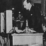 Józef Beck przemawia w Sejmie 5 V 1939