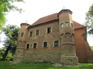 Zamek Dębno - widok od zachodu