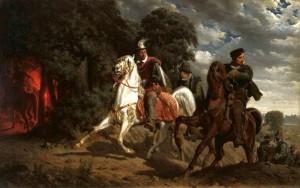 Artur Grottger, Ucieczka Henryka Walezego