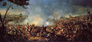 Bitwa pod Waterloo na obrazie Williama Sadlera